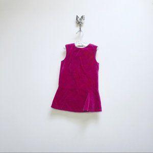 Kenzo pink red velvet velours dress 2 sleeveless